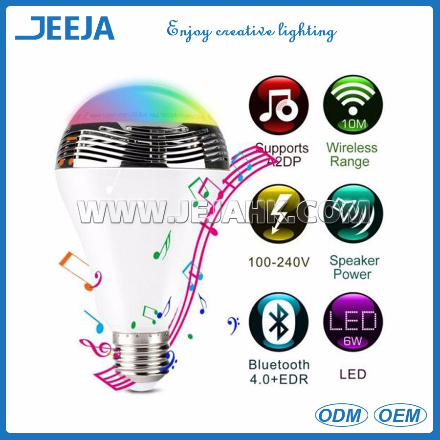 hot sale music group 3w speaker led <strong>bulb</strong> with Smart phone APP controlled