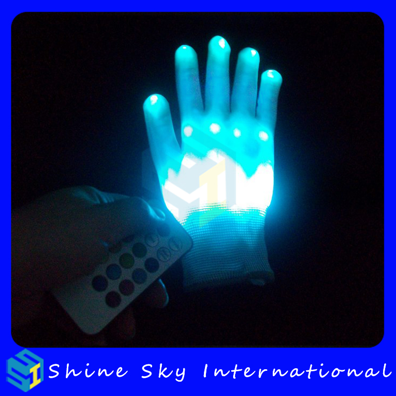 New Design Remote Control Led Glove With Led Light Up Glove Within 800 Meters