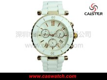 Vacuum plating fashion branded watches swiss with japan movement.