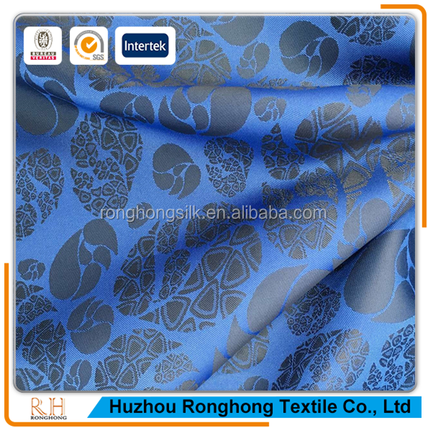 Hot sale 100% polyester jacquard satin lining fabric from Ronghong