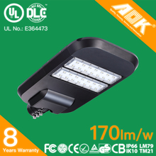 UL DLC CE RoHS waterproof IP66 80W led street light with 5years warranty suitable for solar lighting system