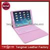 Pink PU Leather Stand Case Cover with Built-in Bluetooth Wireless Keyboard Case for Apple iPad 2/3/4