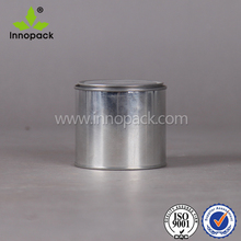 small round 4 oz tin can with cover for chemical