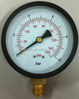 Black Steel Case Of General service Pressure Gauge