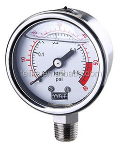 2 inch glycerine or silicone oil filled pressure gauge