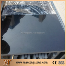 Absolute Black Granite Tiles Slabs Matt Honed Shanxi Black Granite Tiles, China Black Granite