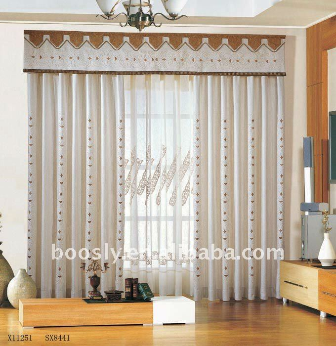manual window curtains with lining