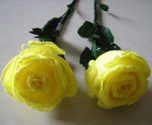 Yellow Feather Rose - Imitation Flower