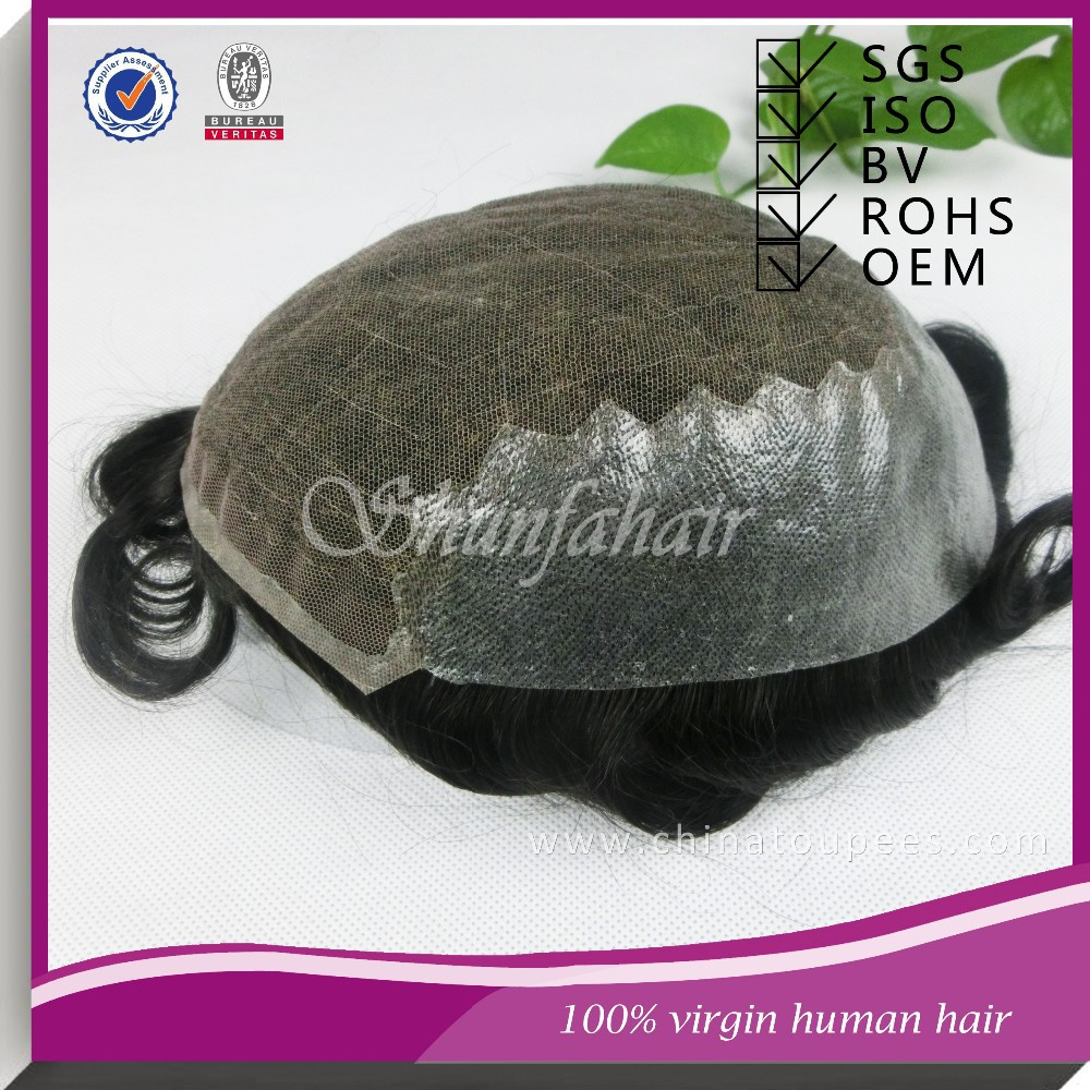 High quality 100% indian hair unit ,cheap toupee for men , hair system.
