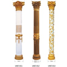 luxury carved wood statue pillar