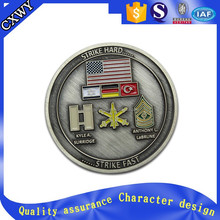 High end quality custom stainless steel challenge coins with epoxy coating