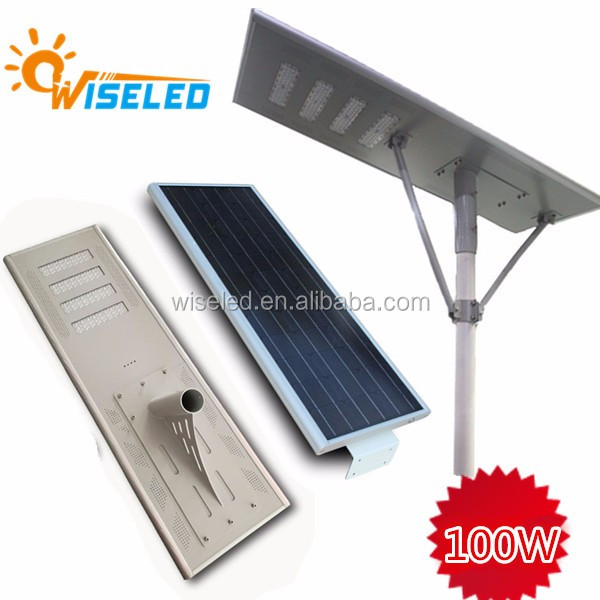 2017 low price high quality outdoor use 80w integrated solar power motion sensor street light