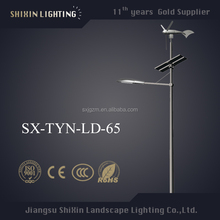 new style 6M pole 12V LED 30W wind solar street light