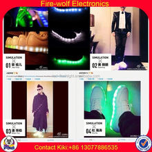 Casual Shoes For Men 2012 Factory led luminous shoes for dancer