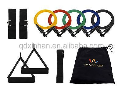 Black mountain products resistance band set, door gym resistance band