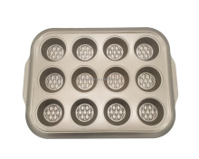 Durable carbon steel non stick 12cup muffin pan