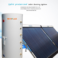 split solar system hot water radiator heater