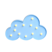 Ropio cute home decoration cloud marquee night light for bedroome