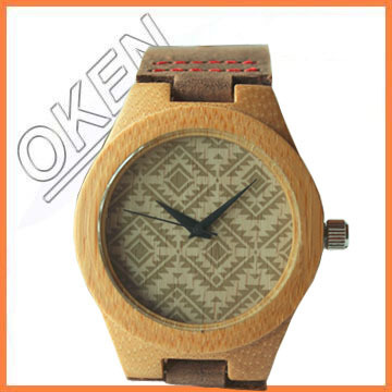 Japanese Movement Wood Watch with Genuine Leather Strap Casual Wristwatch Game of Thrones Design