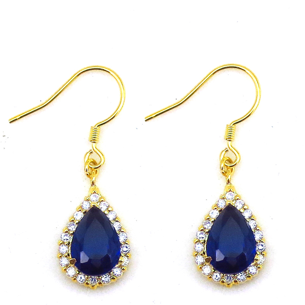 Fashion Crystal Bridal Chandelier Earrings Crystal Gemstones Gold Plated Earrings