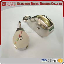 China Professional Manufacturer Small Metal Zinc Alloy Nickel Plate Belt Pulley With Single Rigid Wheel