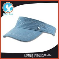 100% Polyester professional outdoor sport visor cap wholesale
