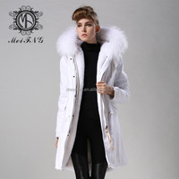 white raccoon furs hooded trim unisex parkas outwear manufacturer by fast shipping