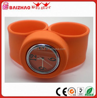 BAIZHAO Slap Watch - Silicone Slap On Watch - Orange - Childrens Size