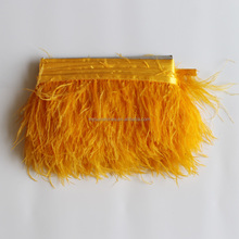 15 colors in stock ! 8-10cm excellent yellow ostrich feather trims for fashion show and party decoration