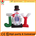 Wholesale cheap customized mini inflatable christmas decorations , joy inflatable snowman for supply