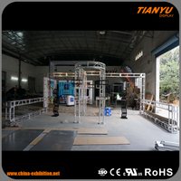 Best Quality Custom Sizes Truss Booth Black Truss For Promotion