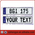 emboossed aluminum car number euro reflective plate