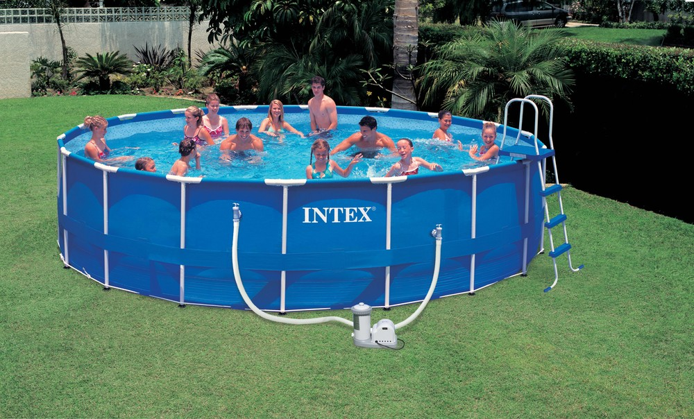2016 High Quality Inexpensive Round Above Ground Intex Metal Frame Swimming Pool