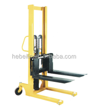 1 ton Hydraulic Hand Stacker with Forks and pedal from China Factory