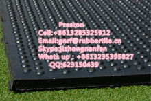 Grooved Little DOT Pattern Cow Stable Rubber Sheet (Rubber Mat)