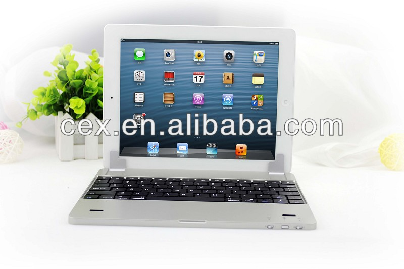 For iPad 2 3 4 New Arrival Aluminum Bluetooth Wireless Keyboard Case