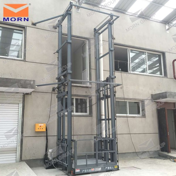 warehouse indoor fixed hydraulic electric material lift with 2.4m