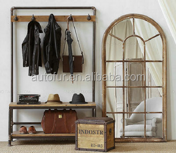 Industrial multi-function bedroom furniture shelf