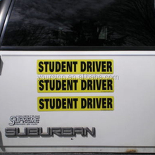 Custom Made Removable Car Bumper Magnet Sticker Reflective Student Driver Magnet
