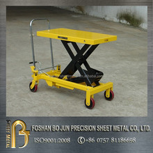Mobile lifting table trolley fabrication
