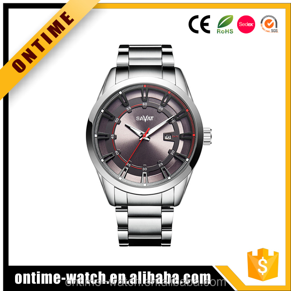 Curren mens fashion watch, alloy case steel band wrist watch,