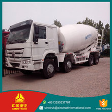 Sinotruck Howo 8X4 Diesel Fuel type 336HP EURO II Emission sino howo concrete mixer truck with best price