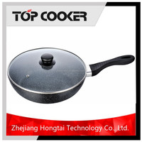 New style aluminium technique marble coating cookware