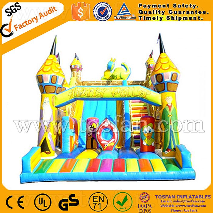 commercial wet dry inflatable slide for sale A4015