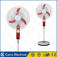 high speed 12V 16 inch rechargeable battery stand fan with led light