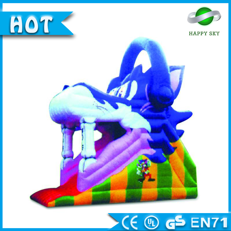 High Quality! inflatable slide Tom Cat character, inflatable baby slide, inflatable slide amusement park
