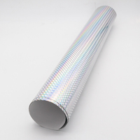 Custom Laser Silver Hologram Shrink Printing PVC Holographic Film Sticker in Sheet/Roll