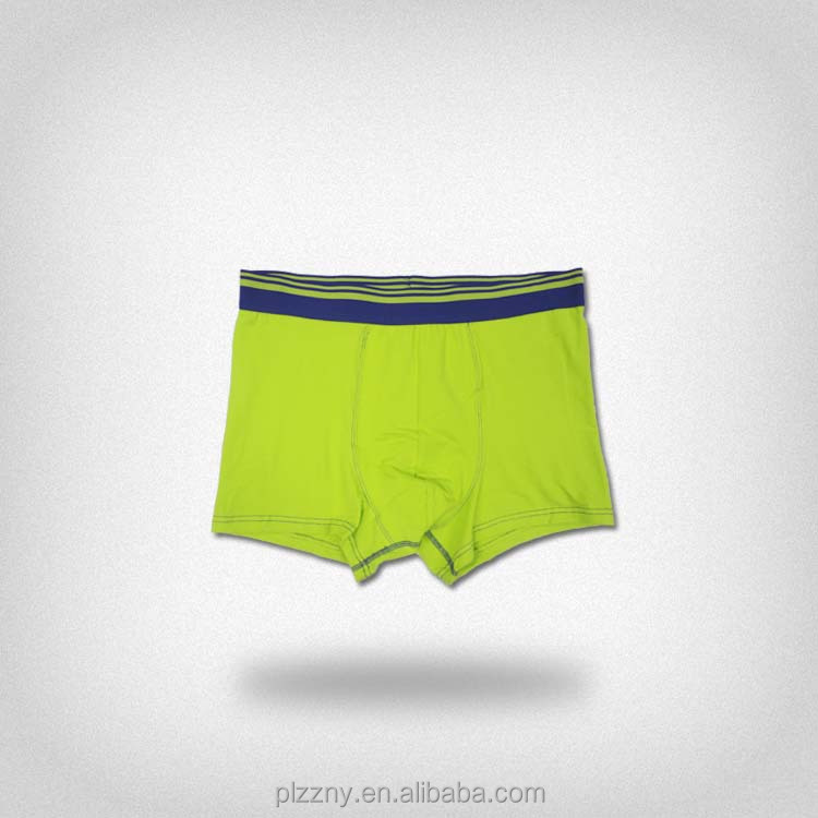 Custom design fashion men's Light green loose boxers for men underwear