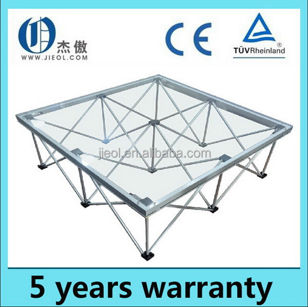 Durable innovative portable outdoor event stage deck