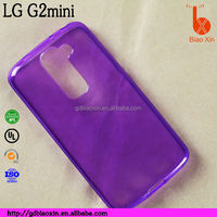 Wholesale Price tpu back cover soft jelly mobile phone case for LG Optimus G2 mini